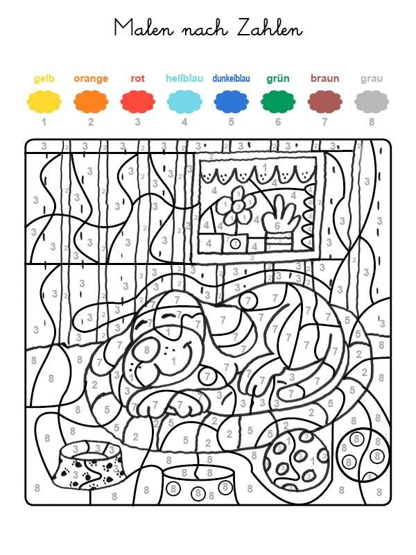 Wenn Ihr Kind Das Ganze Motiv Auf Der Kostenlosen Vorlage Mit Den Farben Ausgemalt Hat Malen Nach Zahlen Kinder Malen Nach Zahlen Malen Nach Zahlen Kostenlos