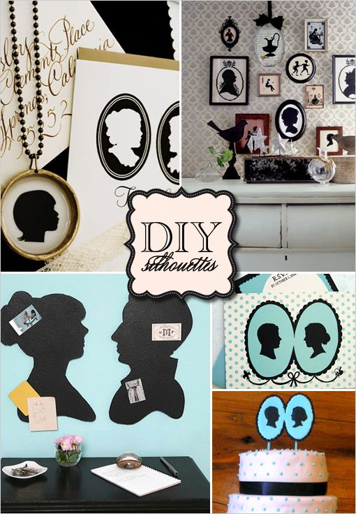 DIY Silhouette crafts