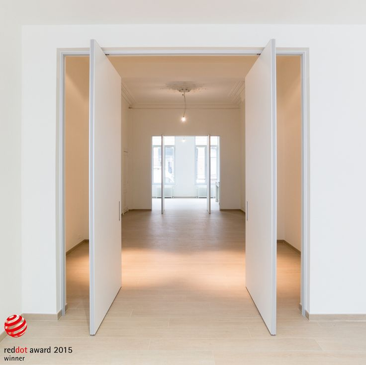 Modern custom-made double pivoting interior doors