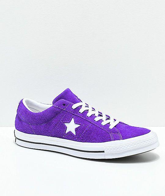 7cc6dcaa76d98e Converse One Star Court Purple