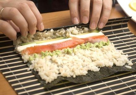 Sushi making.