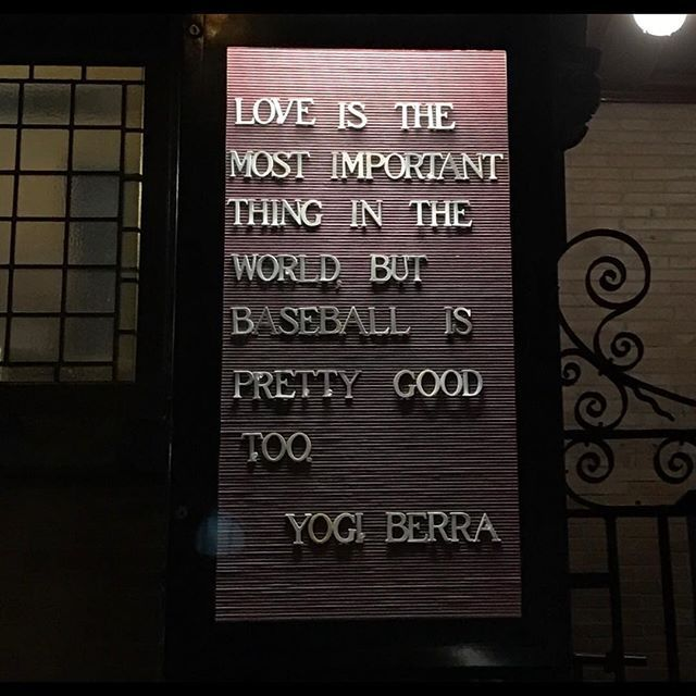 Top 100 yogi berra quotes photos the new quote on the church down the block is outstanding!!!#quotes #yogiberra #yogiberraquotes #baseballquotes #chicagocubs #cubs #uws#upperwestside#upperwestsidenyc #ny#nyc#newyork#i❤️ny #what a game!