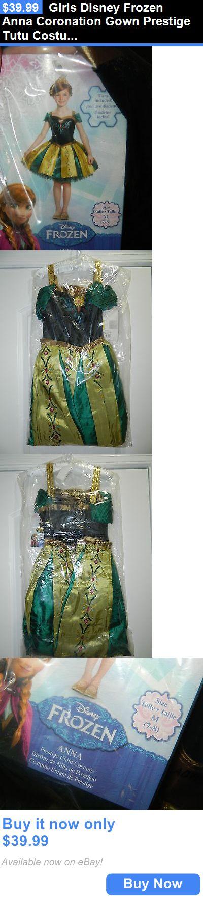 Kids Costumes: Girls Disney Frozen Anna Coronation Gown Prestige Tutu Costume Sz M 7/8 New! BUY IT NOW ONLY: $39.99