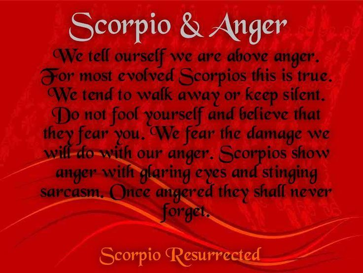 ♏   Photo credit: Scorpio Resurrected. #Scorpio #Anger #Quote #Zodiac #Astrology For more Scorpio related posts, please check out my FB page:  https://www.facebook.com/ScorpioEvolution
