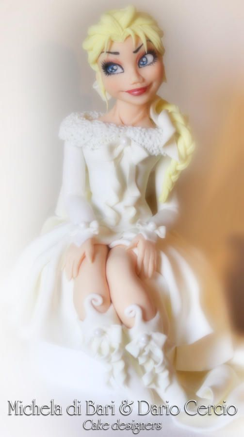 Elsa outfit winter my style ♥ - Cake by Michela di Bari