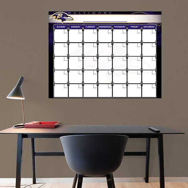 Baltimore Ravens 1 Month Dry Erase Calendar  - Wall Sticker Outlet