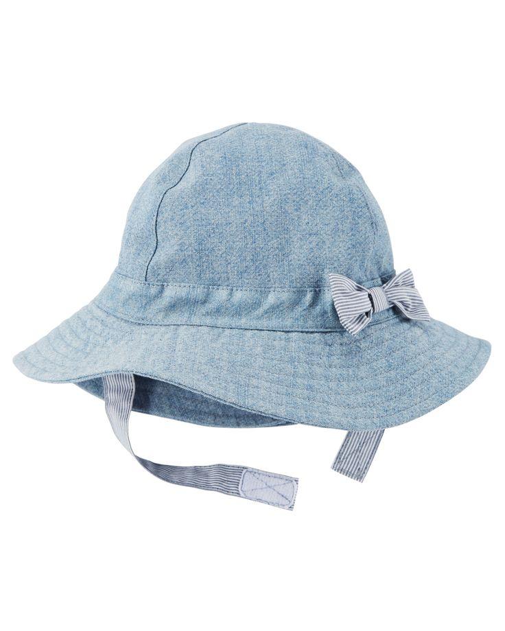 Chapeau de soleil en chambray pour bébés filles | Carter's OshKosh Canada