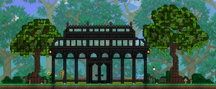 My very small greenhouse. : Terraria | Small greenhouse ...