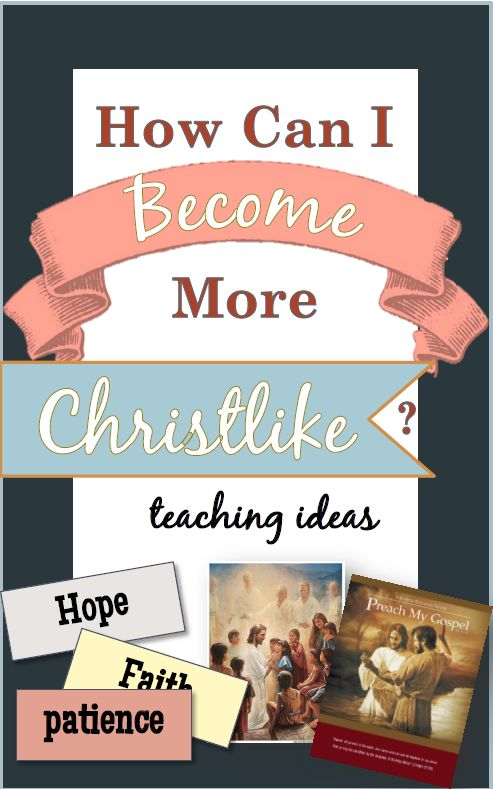 Really useful and thougth provoking ideas on becoming Christlike!
