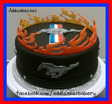 Ford Mustang Themed Cake. Dustin would of LOVED this!!! So cool!!!