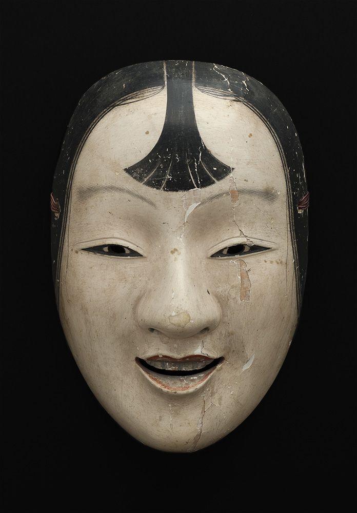 "cavinmorrisgallery: "" Masks Japan - Noh Mask, Kasshiki , 19th C. Lacquered wood 8 x 5.5 x 2.5 inches 20.3 x 14 x 6.4 cm M 68 http://www.cavinmorris.com """
