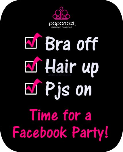 Are you ready to have some fun!??! Come on over and join the party on Facebook! I post fun games, new jewelry and all kinds of other fun things! We have so much fun getting to know each other! Best of all, you don't have to even wear a bra! Get home, get comfy. Find…