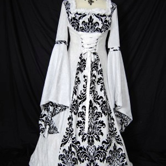 Great 2018 Medieval Wedding Gown Renaissance Bell Sleeve: 17 Best Images About OLD FASHION DRESSES On Pinterest