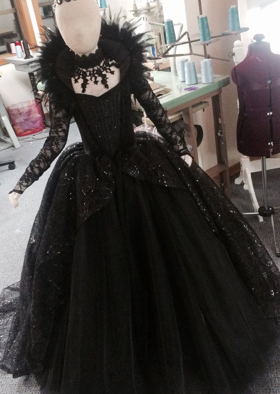 LIMITED EDITION Evil Queen Costume Vampire Ball Gown by EllaDynae - Pinned by The Mystic's Emporium on Etsy