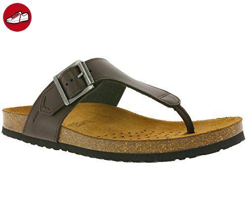 GEOX U Dalmazio F Schuhe Herren Echtleder-Pantoletten Slipper Braun U620ZF 00043 C6006, Größenauswahl:46 - Geox schuhe (*Partner-Link)