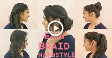 5 EASY Braided HAIRSTYLES Tutorial | DIY Brautfrisuren für langes / mittleres Haar #hochzeit #diy #hairstyles #promhairupdotutorial