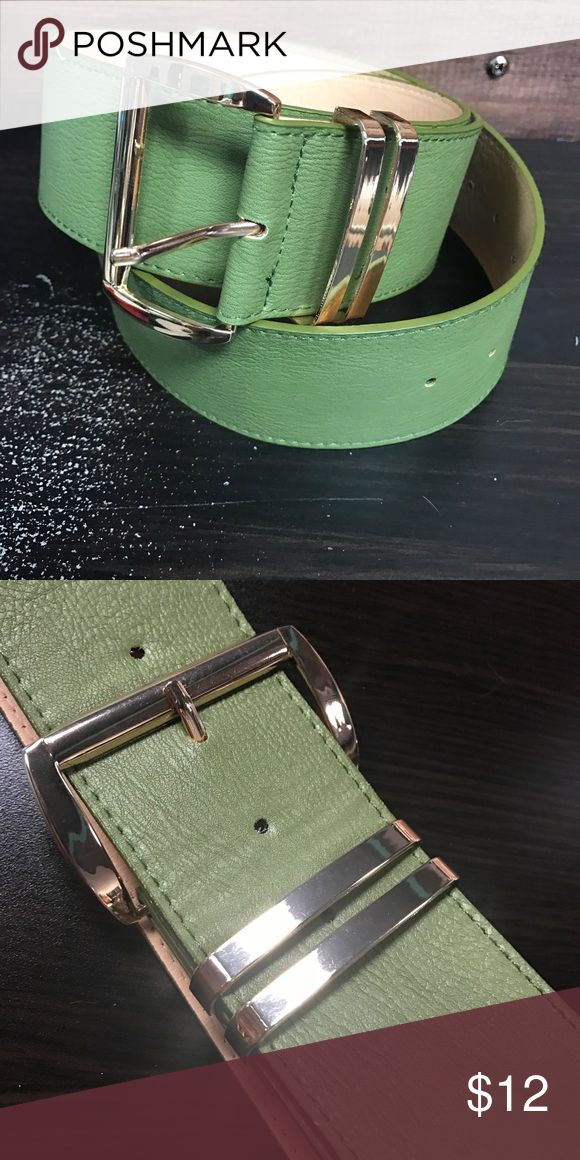 "🆕 Wide buckle faux leather belt - Olive This belt comes in 2 sizes. One size fits most and curvy plus one size fits most.  ONE SIZE: 29"" - 36"" (from closest hole to furthest hole) CURVY PLUS SIZE: 29"" - 47"" (from closest hole to furthest hole) Accessories Belts"