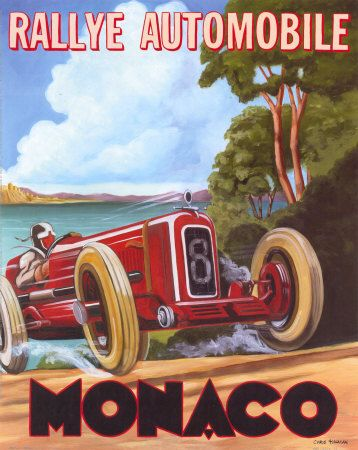 Vintage Auto Racing Poster on Vintage Auto Racing Posters Art Prints Monaco Grand Prix