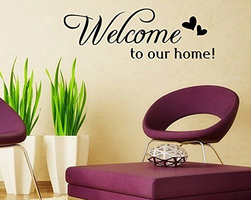 Lanue Welcome To Our Home Saying Vinyl Wall Stickers Quotes Black Decal  Mural Home Decor Wall Part 85
