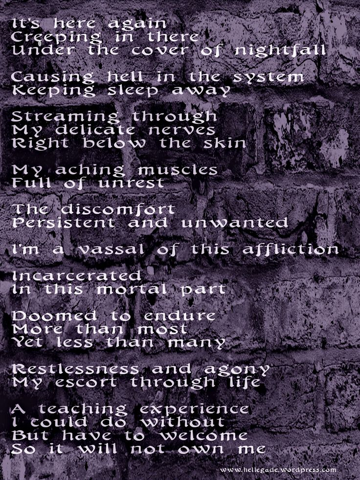 Affliction - #poetry