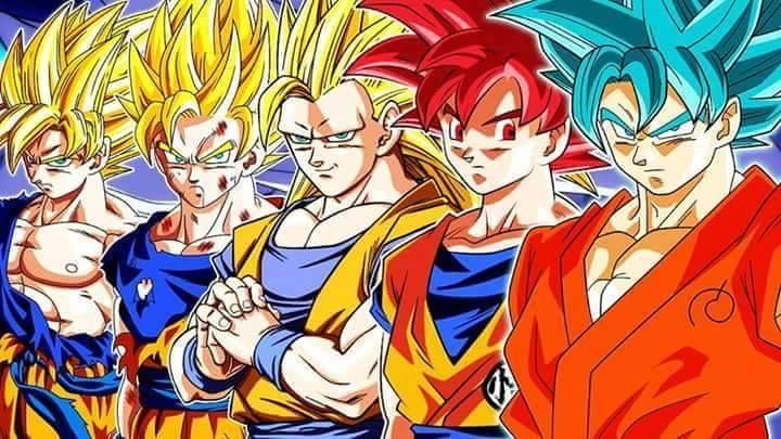 esta son todas las fases de son Goku
