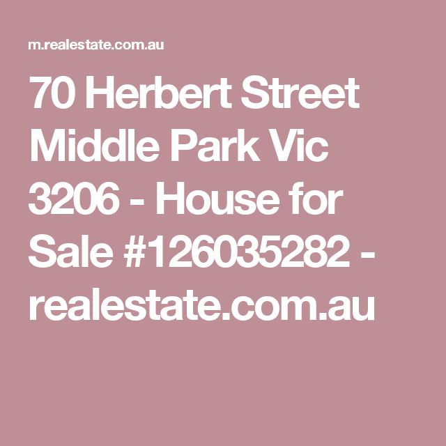 70 Herbert Street Middle Park Vic 3206 - House for Sale #126035282 - realestate.com.au