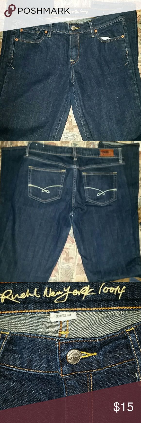 RUEHL  NEW YORK JEANS. CODE D Dark blue  Straight  leg jeans inseam 35 CODE D 2 for $20  or 1 for  $15 Ruehl No. 925 Jeans Straight Leg