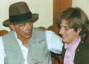 Joseph Beuys with Petra Kelly