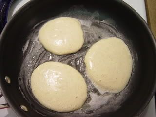 Cheesecake Pancakes: 2 large eggs and 4 oz Cream Cheese in a blender. Cook like pancakes. Dip in agave syrup!