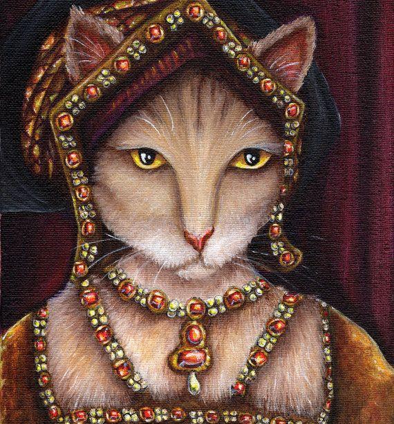 Crème Art Cat, Jane Seymour, Henri VIII Tudor Reine 8 x 10 Art Print
