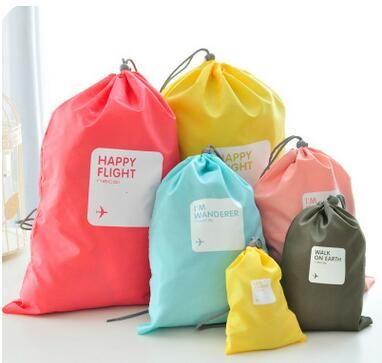 2016 New arrvial Hot Sale Korean popular travel storage bag for women/men 4pcs/set waterproof case tools Wholesale