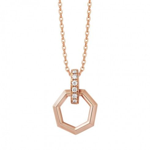 10K Rose Gold Diamond Pendant (excluding necklace) | Chow Tai Fook