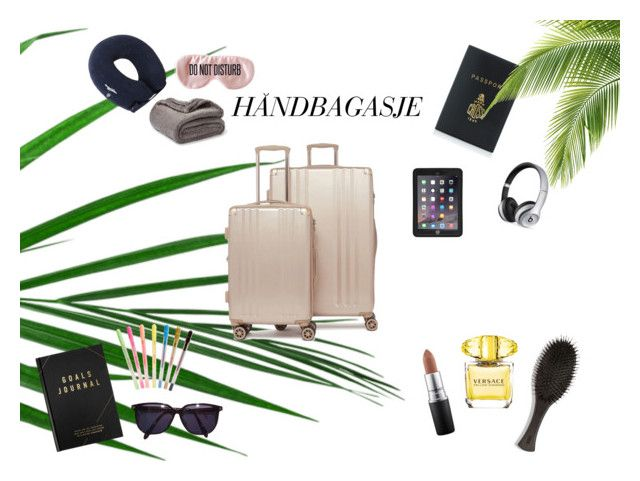 flight by ingridlundevall on Polyvore featuring Beats by Dr. Dre, Mark Cross, CalPak, BaubleBar, Sonia Rykiel, Griffin, MAC Cosmetics, Versace, Oribe and kikki.K