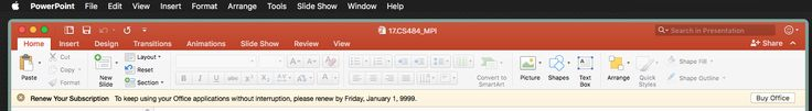 It seems I have another 2915241 days before my Office subscription runs out.