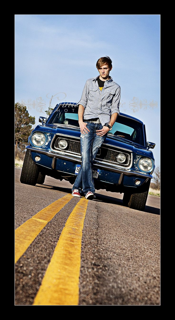Love this idea fro guy senior picture .. with their car they used in high school!
