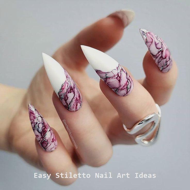 30 Great Stiletto Nail Art Design Ideas #naildesigns – Diy Stiletto Nails