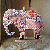 Для дома и интерьера ручной работы. Ярмарка Мастеров - ручная работа Вешалка-ключница Индийский слон. Handmade.