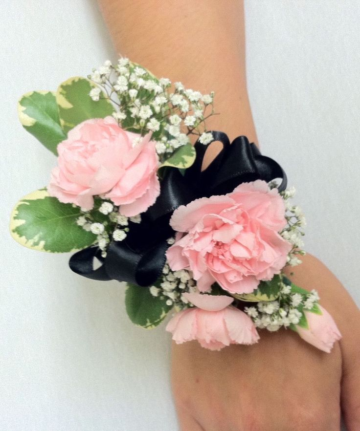 Wedding Flowers Corsage Ideas: Mini Carnation Corsage, Carnation Corsages, Wrist Corsage