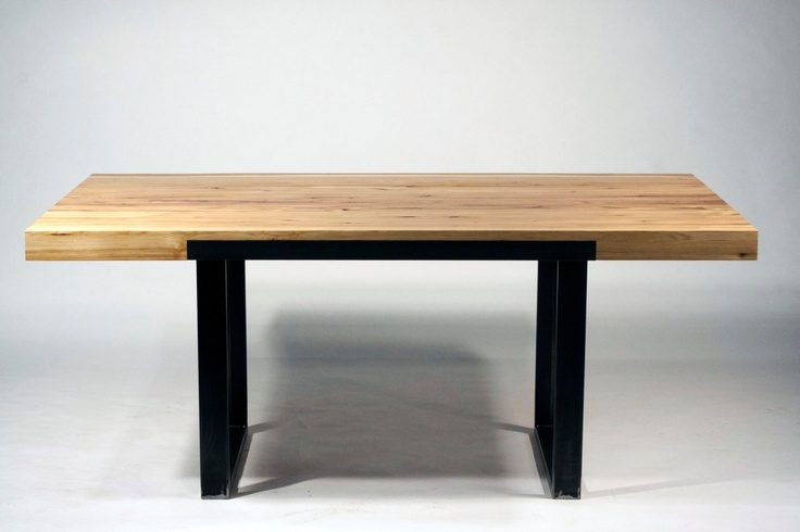 32 best images about dwelling dining tables on pinterest for Square industrial dining table