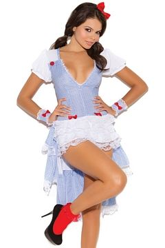 White/Blue Kansas Cutie Costume Elegant Moments 9101 White/Blue, Women's, Size: Medium