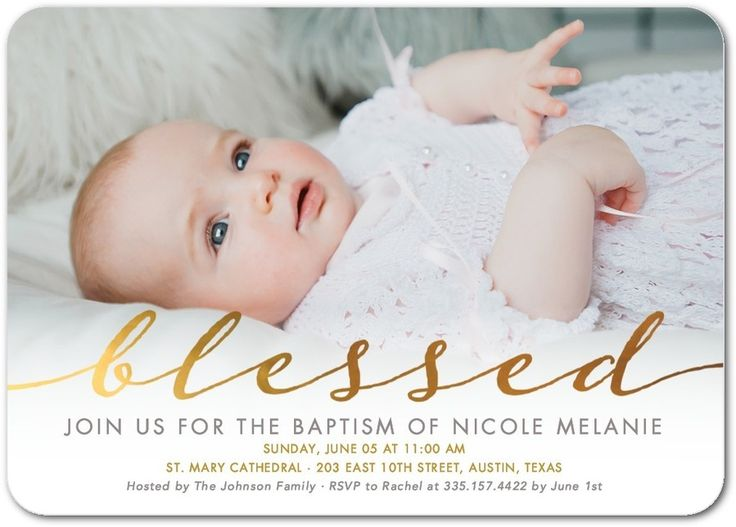 Delightful Blessing - Baptism, Christening Invitations in Gilded | Hello Little One