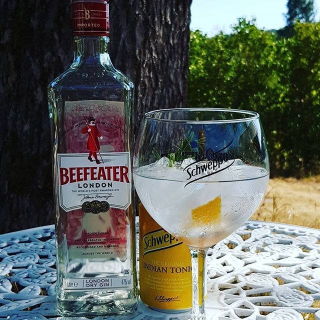 @beefeatergin @schweppes Indian Tonic Water grape fruit peel rosmary. #gintonic #gin #gt #tonic #dandywithlens DandyWithLens.com