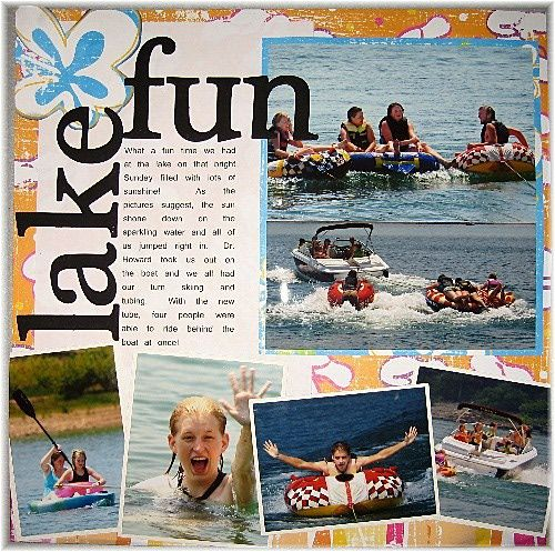 simple scrapbooking layout ideas | Hot Off the Press Sketch 4 - Audra's Layout End of summer hoorah!