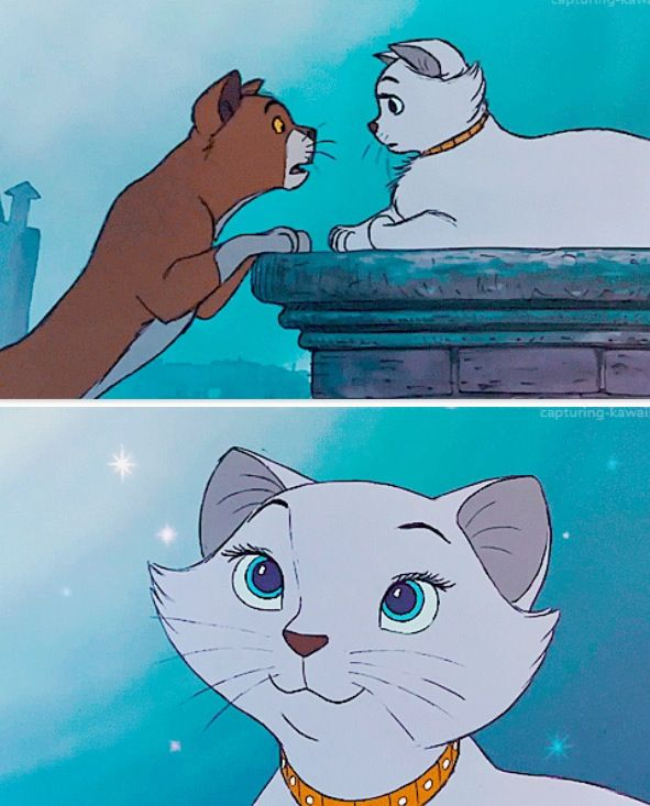 "Thomas O'Malley and Duchess from ""The Aristocats"""