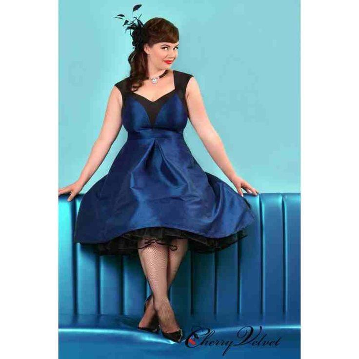 PRE-ORDER - Dita Dress (Royal Blue and Black) $200.00 http://www.curvyclothing.com.au/index.php?route=product/product&path=95_151&product_id=10254