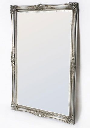 Ornate Corner Bevelled Mirror Silver | Country Interiors