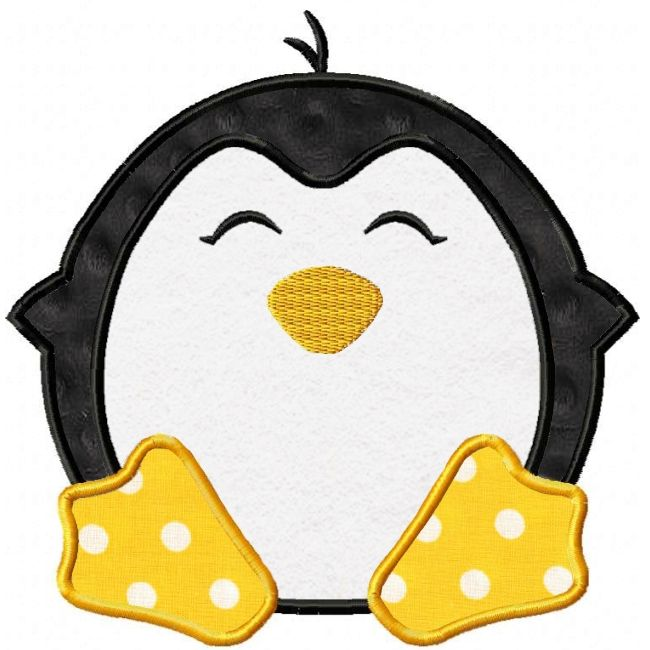 Penguin Applique Design - i like he feet on this penguin