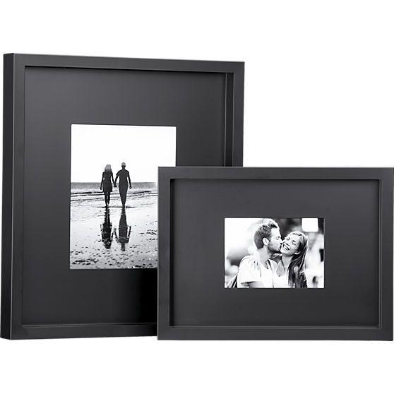 black matte picture frames cb2