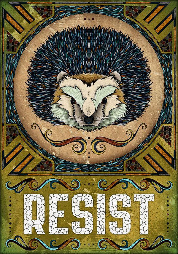 Spirit Totem Animals:  Alive Poster Series.