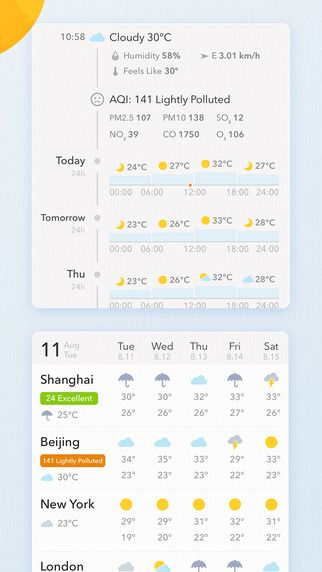 MyWeather - 10-Day Weather Forecast, Realtime Temperature & Widgets on the App Store